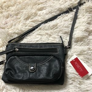 Rosetti black cross lady bag
